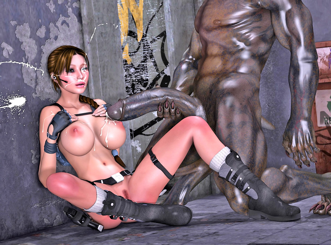 Hot anime porn tomb raider and orcs adult clip