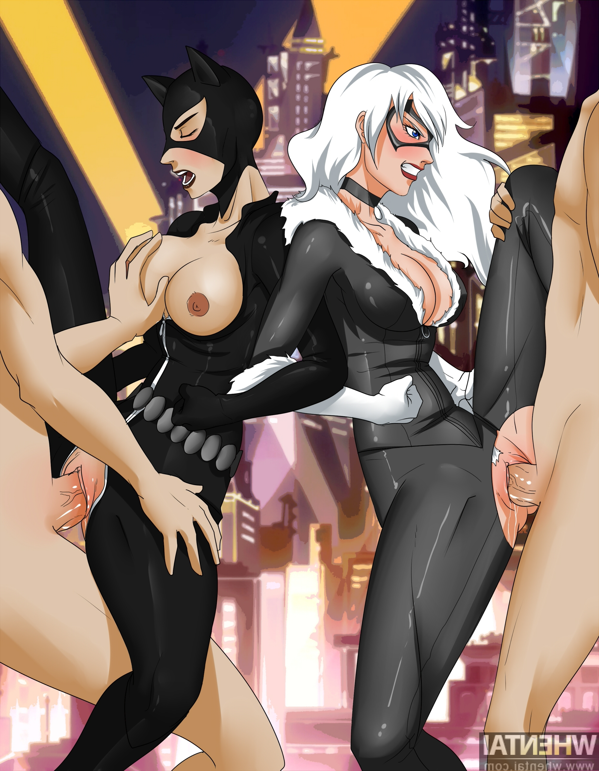 Black cat and catwoman lesbian porn variants are
