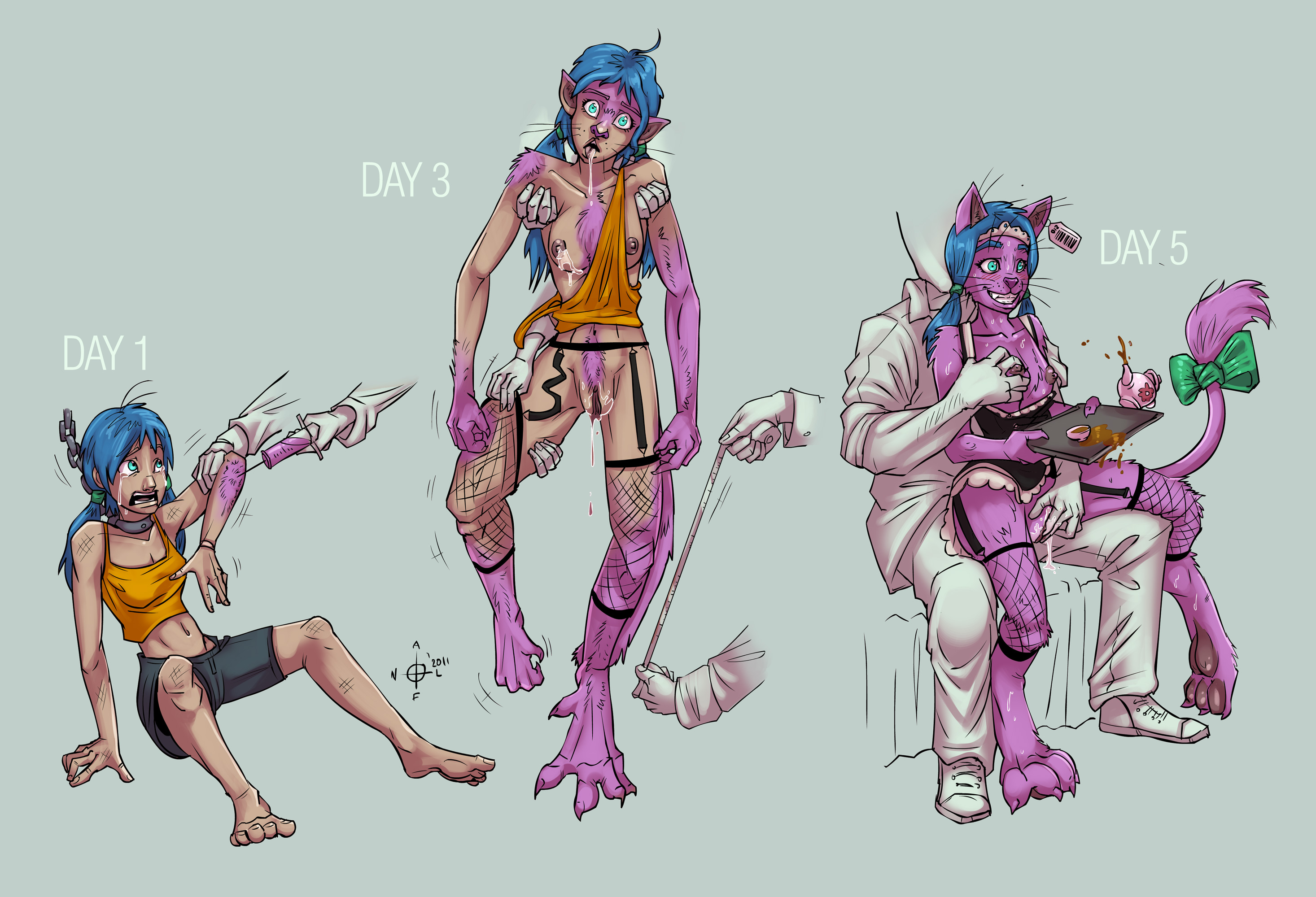 Furry Herm Transformation Comic