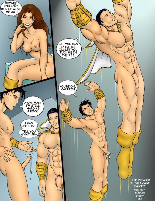 gay superhero hentai page pictures album superheroes power tagged shazam