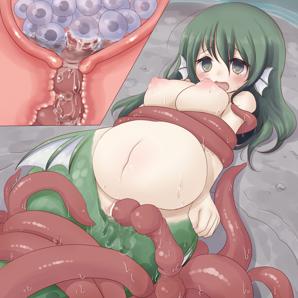 Girls in tentacle bondage images are