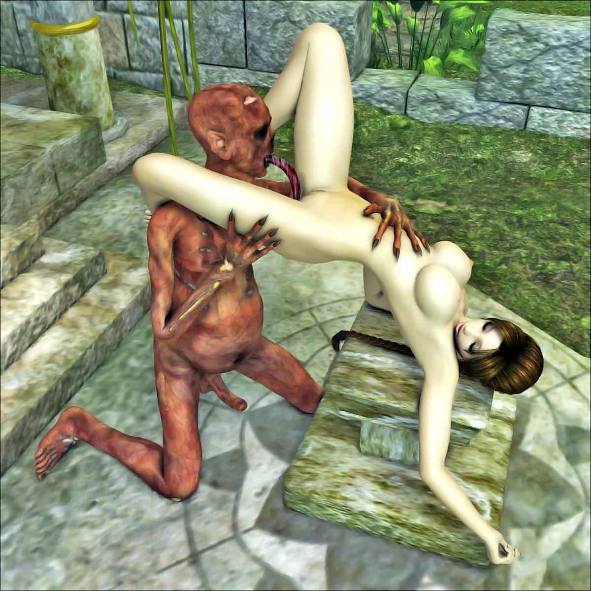 Рисунки девушка монстр порно 1 фотография