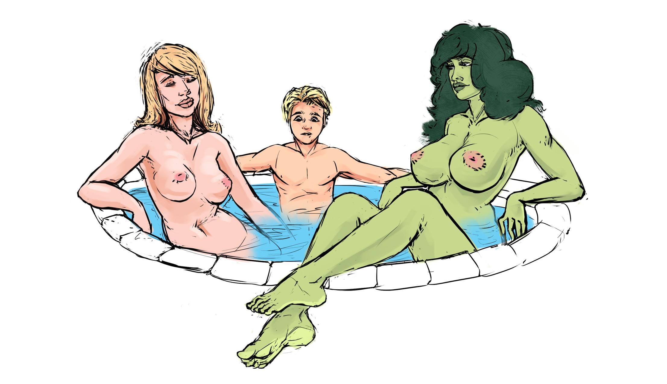 Nude fantastic four cartoon adult movie