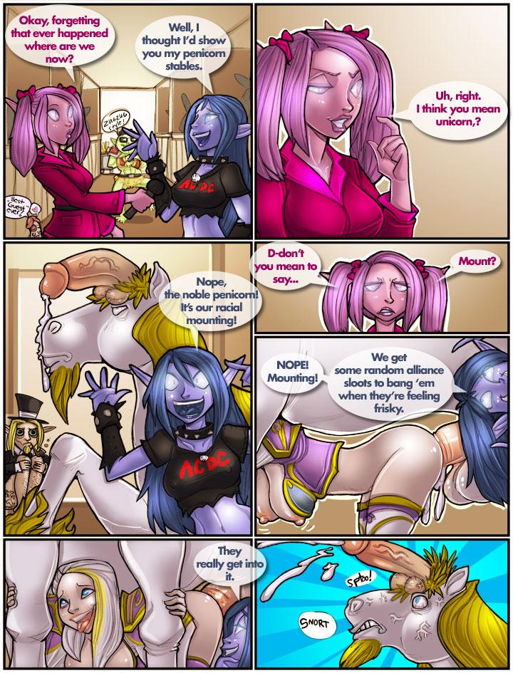 Комиксы порно world of warcraft