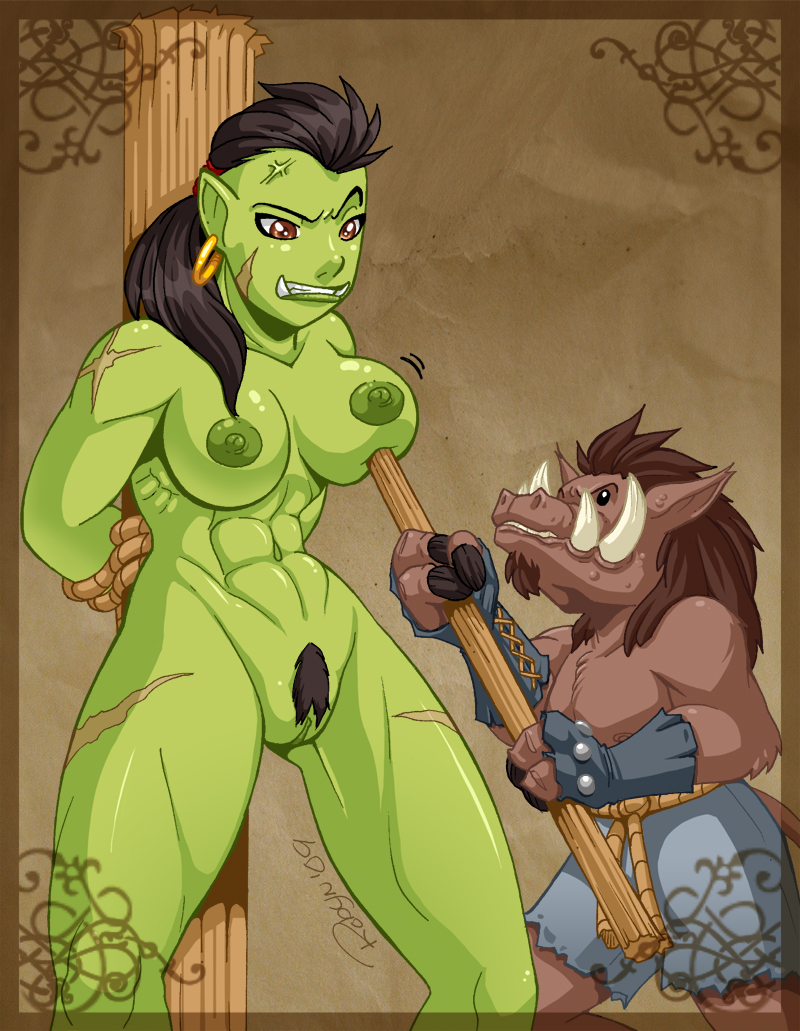 Warcraft porn human female orc in her  naked video