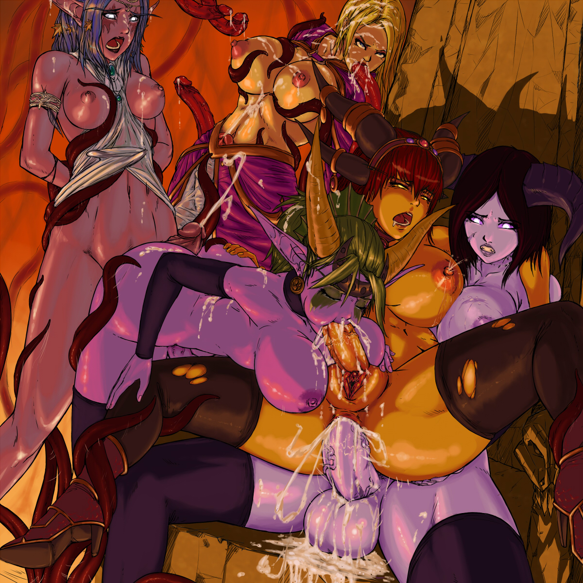 Tirande hentai naked scene