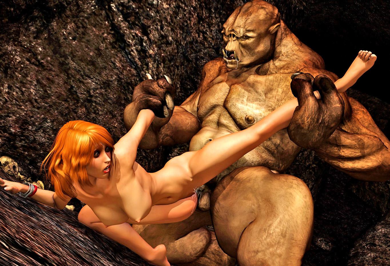 3d Monster Cartoon Porn