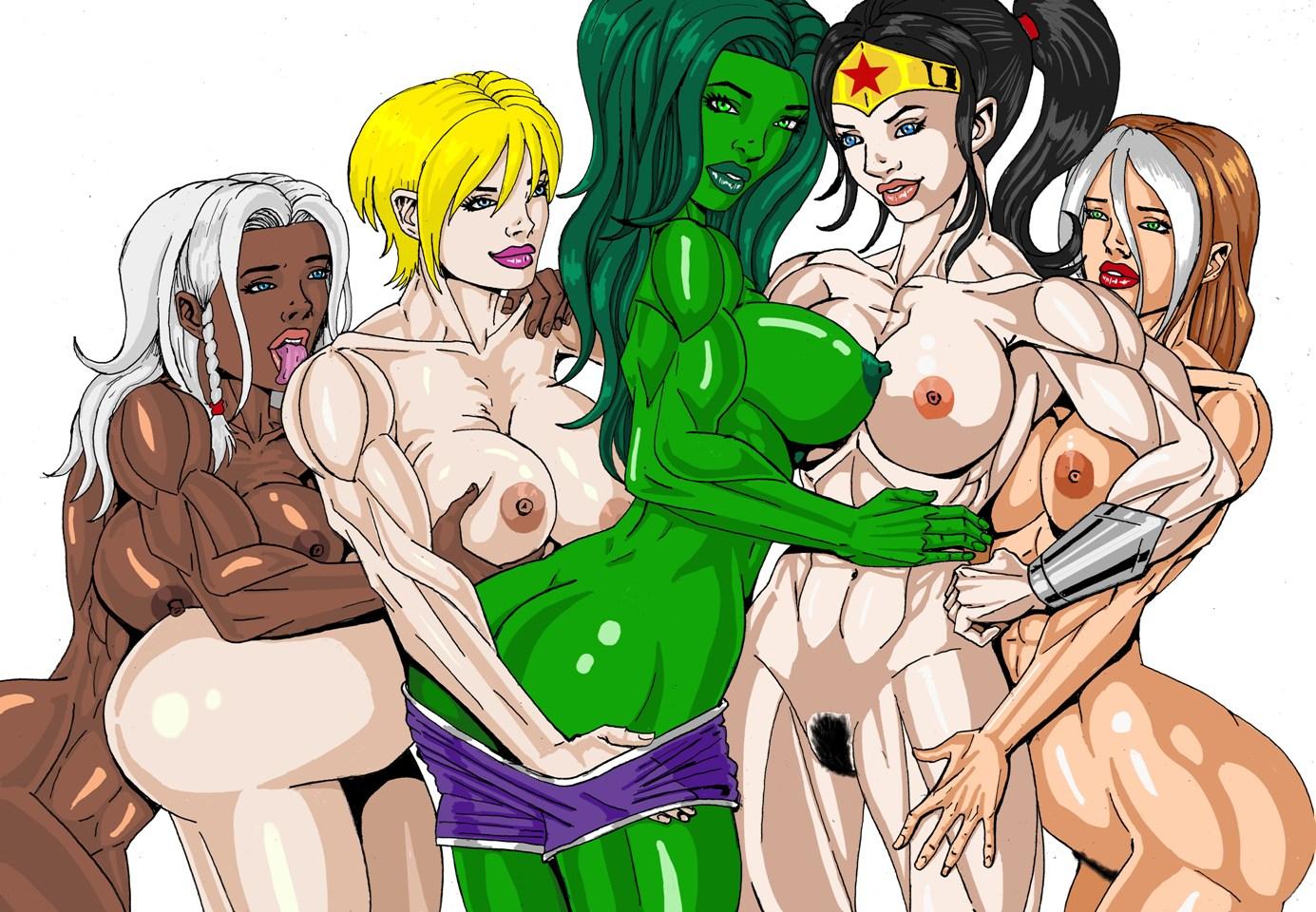 x woman x men nude