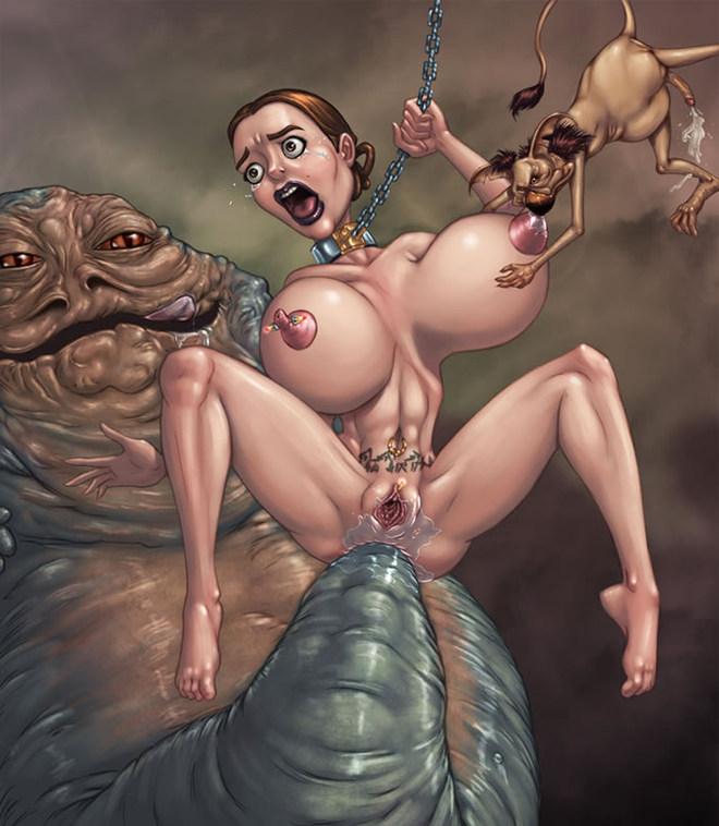 Wars jabba porn star Leia Aggressively