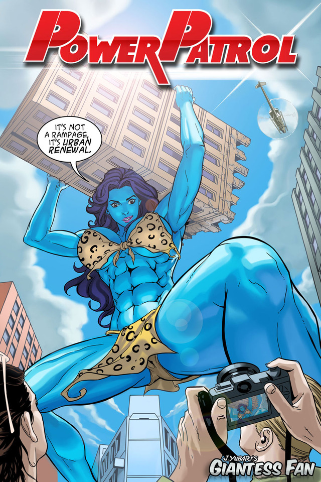 beast city hentai cover comics woman blue city giant power giantess patrol defends jolly jbg