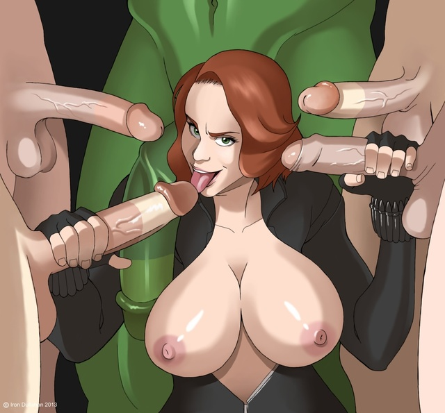 black widow hentai black widow hulk avengers marvel captain america hawkeye iron man cfb dfdc dullahan