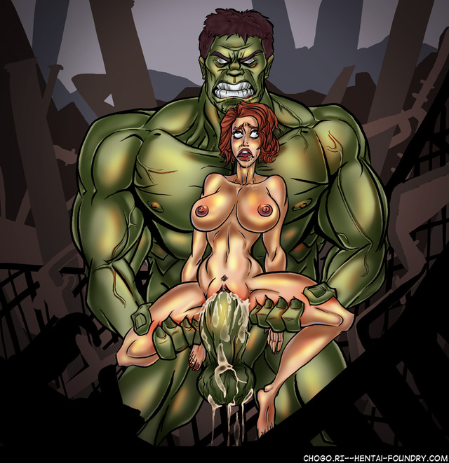 Black widow y hulk hentai