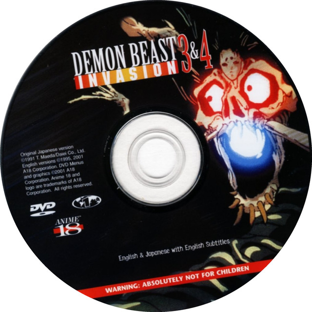 demon beast invasion hentai english beast demon invasion dvdd disk