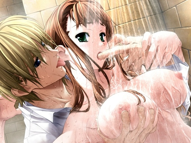 Anime shower sex