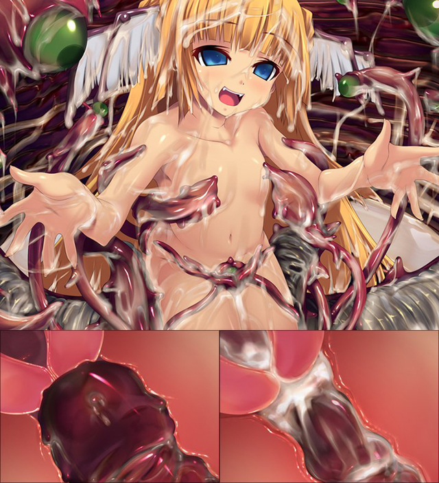 hentai porn monster hentai girl tentacle impregnation monster cute