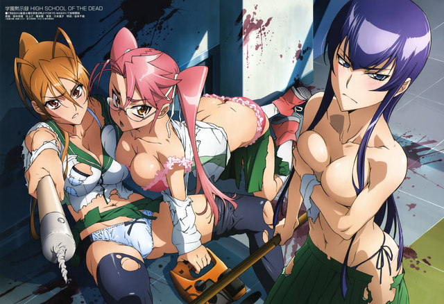 highschool of the dead hentai original highschool dead media