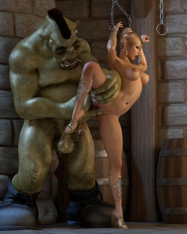 монстры рвут ельфийку порно