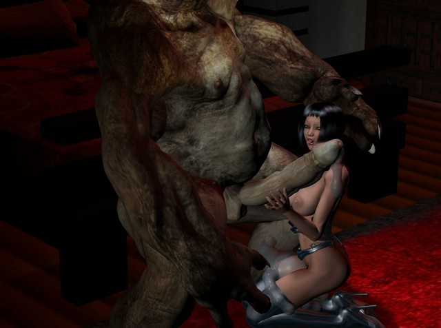 3d hentai monster porn horny zombie scary