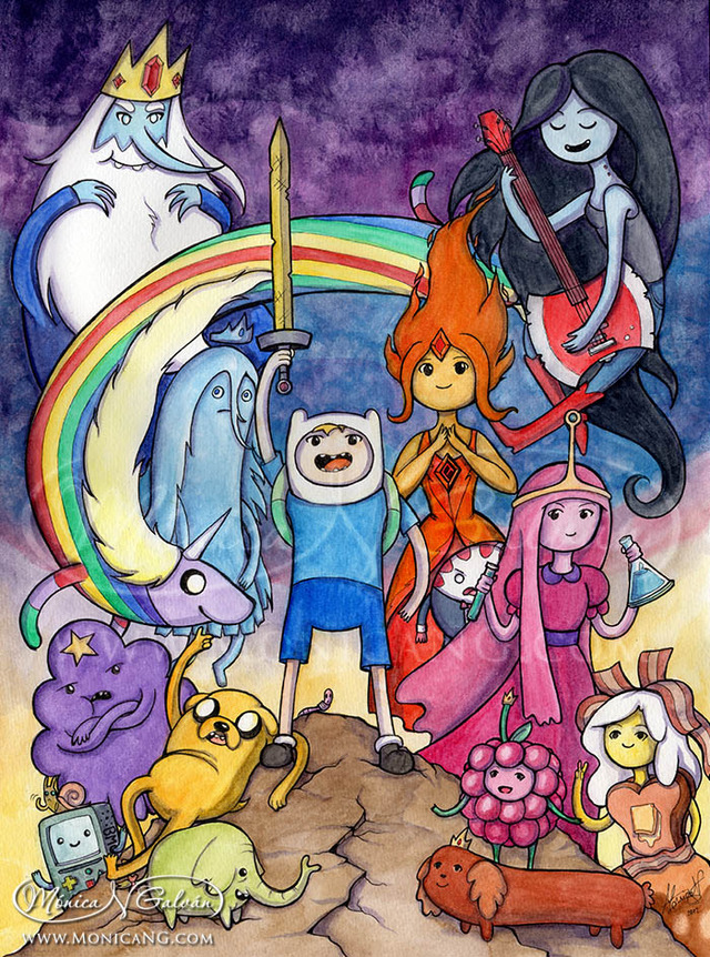adventuretime hentai time movies adventure morelikethis res traditional fanart monica paintings pjpo