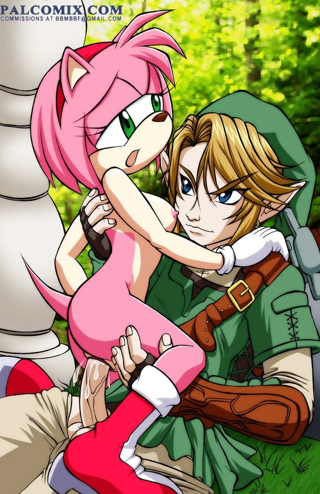amy sonic hentai link from naked amy crossover sonic team twilight princess legend rose edf palcomix zelda