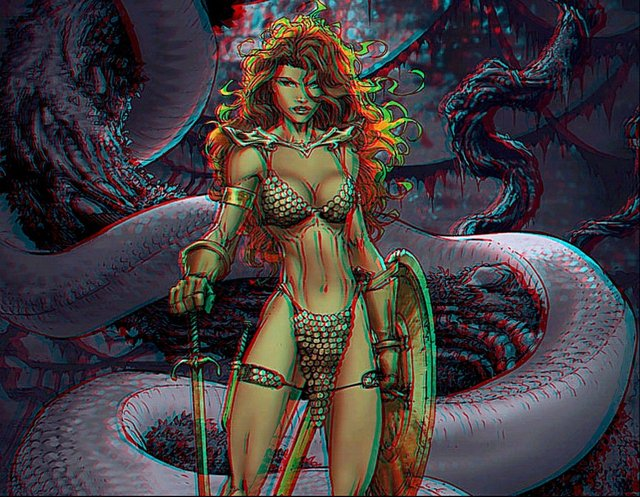 anaglyph hentai pre morelikethis red iii digitalart anaglyph geosammy sonja stereoscopy olz