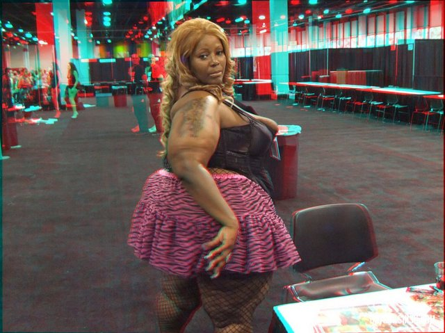 anaglyph hentai black woman fat suit bathing ssbbw anaglyph