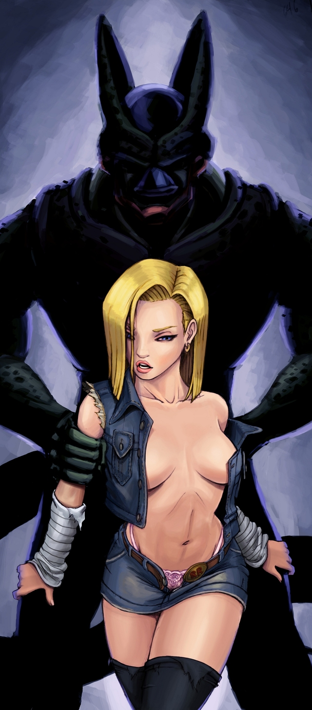 android 18 and cell hentai hentai media shell android slutty dragonball