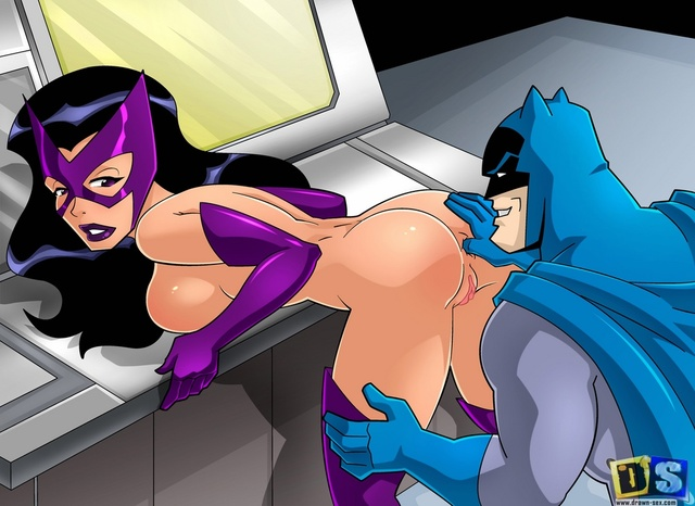 batman girls hentai hentai batman lusciousnet huntress ice brave bold