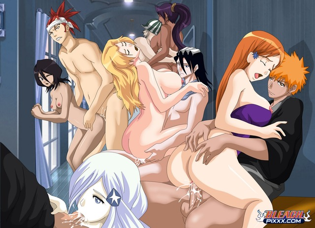 bkeach hentai hentai por original picture media bleach gang bang postado macgyver