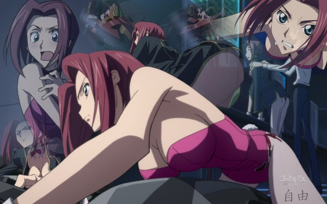code geass hentai hair blue eyes show red code geass konachan short kallen stadtfeld bunnygirl