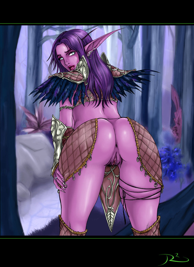 no panties hentai elf night hair ass bent over world pubic panties warcraft