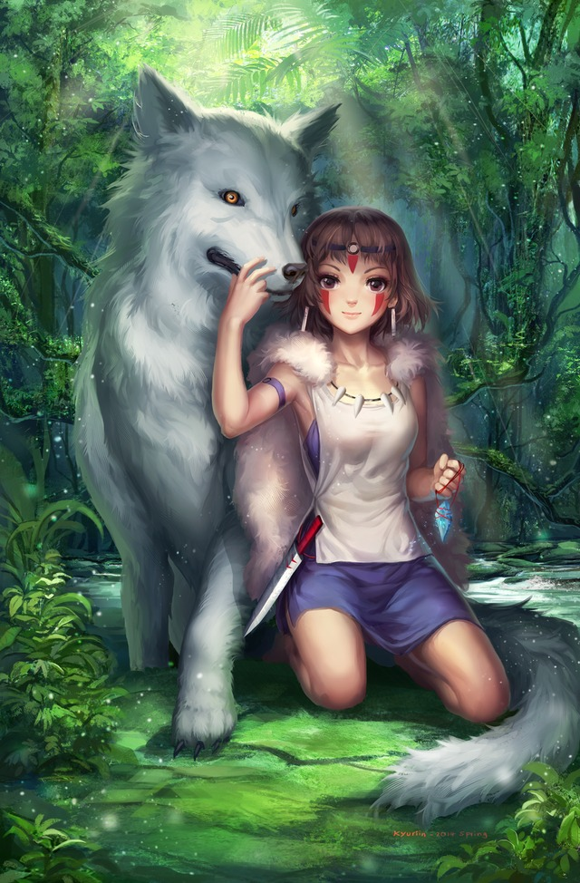 princess mononoke hentai anime comments princess fanart mononoke illustrations kjth xupp minialbum
