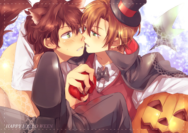 vampire hunter d hentai happy halloween male yande yaoi south axis powers hetalia riku italy spain