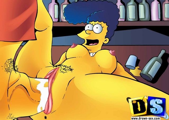cartoon simpsons hentai porn pics horny being fucked star simpsons simpson marge bar