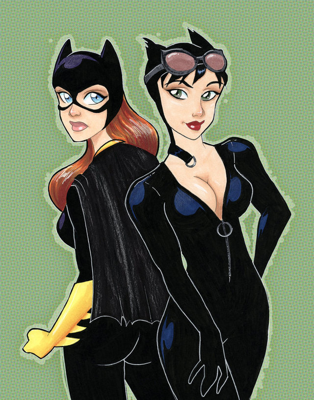 catwoman hentai pictures cartoons pre morelikethis batgirl catwoman traditional fanart taeha xebk