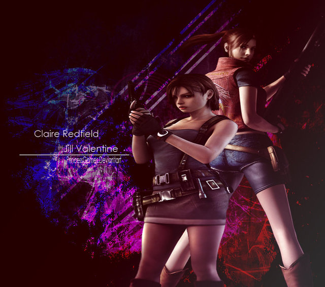 claire redfield hentai games pre wallpaper morelikethis fanart valentine jill claire redfield princessgame xnnd