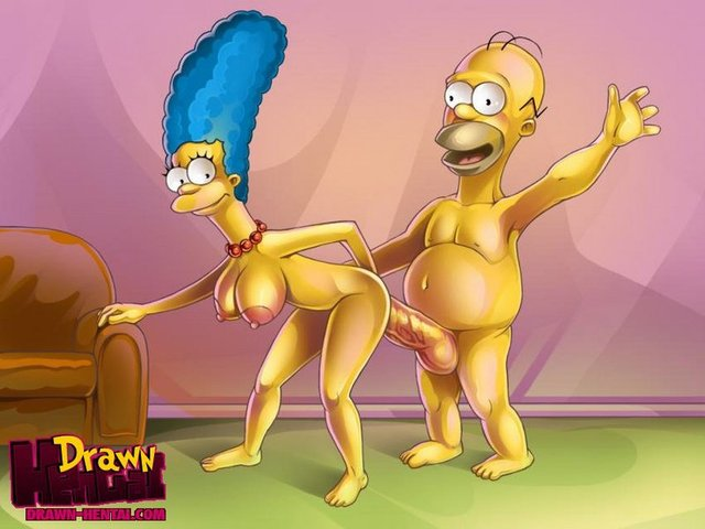 cosmic break hentai hentai user drawn afc simpsons simpson marge homer