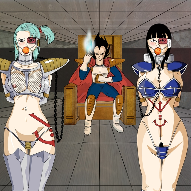 dagon ball z hentai bulma female hair standing tagme pics pic front picture dragon armor chichi male color toons sitting vegeta clothes ball saiyan human briefs interspecies indoors scouter