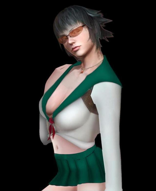 devil may cry 4 gloria hentai lady morelikethis may fanart green devil schoolgirl cry costume jir animefanhentai