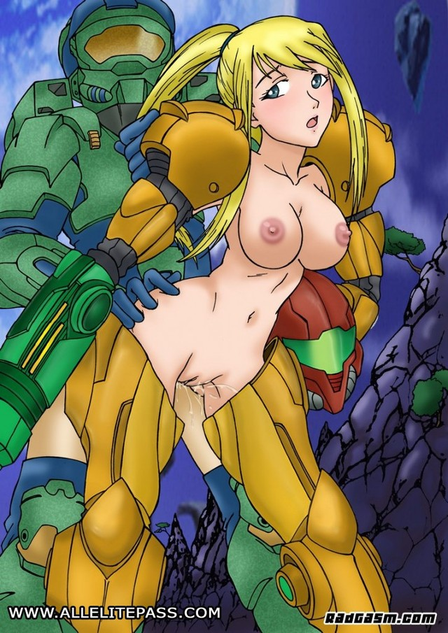 halo hentai porn hentai collection wallpapers crossover master metroid samus halo aran sey chief rainpow