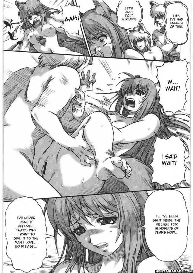 Congratulate, the Spice and wolf hentai uncensored join told