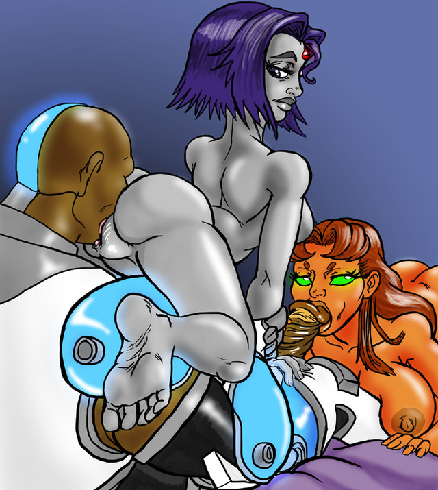 Raven and Starfire fucked by Tentacles full - XVIDEOSCOM