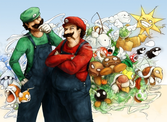 luigi hentai hentai video games wallpaper detail princess thumbnails wallpaperhi peach mario luigi