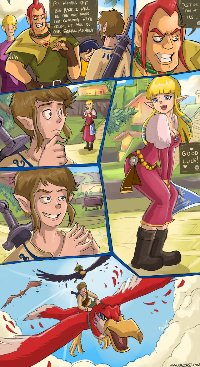 Legend of zelda skyward sword hentai comic final