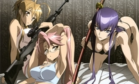 highschool of the dead hentai albums userpics girls busujima saeko cleavage glasses gun highschool dead miyamoto rei panties sword takagi saya tanaka masayoshi underwear weapon hentai categorized wallpapers galleries blade wielding girl