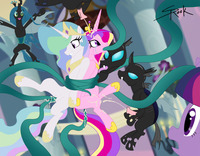 magical twilight hentai friendship magic little pony princess cadence celestia queen chrysalis twilight sparkle selrock