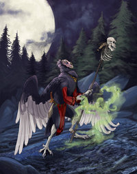 necromancer hentai pre vulture necromancer saeto morelikethis anthro digital paintings