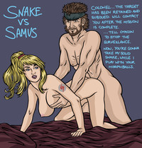 sexy hentai porn trickylouse metal gear solid metroid samus aran crossover snake photo