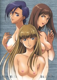 gundam wing hentai girls blue eyes hair bubbles gotokuji miyako oekaki powerpuff