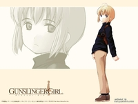 gunslinger girl hentai blonde hair blue eyes bob cut brown